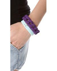 Marc By Marc Jacobs - Blue Rubber Standard Supply Bracelet - Lyst
