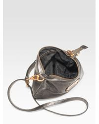 Marc By Marc Jacobs - Gray Classic Q Metallic Leather Percy Bag - Lyst