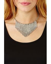 Nasty Gal - Metallic Chainmail Collar Necklace - Lyst