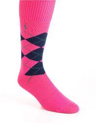 Polo Ralph Lauren   Black Argyle Socks for Men   Lyst