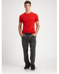 RLX Ralph Lauren - Red Cotton Crewneck Pocket Tee for Men - Lyst