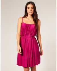 Seafolly | Pink Goddess Pleated Dress | Lyst