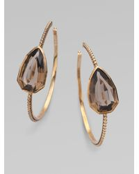 Stephen Dweck | Brown Smoky Quartz Hoop Earrings | Lyst