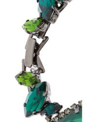 Erickson Beamon - Green Envy Gunmetal-Plated Swarovski Crystal Bracelet - Lyst