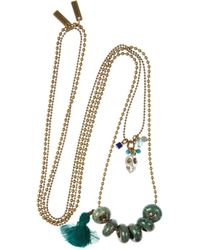 Isabel Marant | Green Nixon Gold-Tone Horn Necklace | Lyst