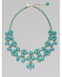 kate spade new york | Blue Bib Necklace | Lyst