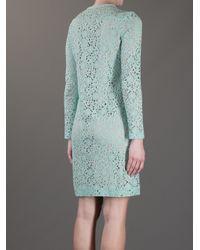 Victoria, Victoria Beckham   Green Floral Crochet Dress   Lyst
