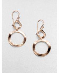 Ippolita | Pink Rose Carino Open Snowman Drop Earrings | Lyst