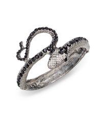 Kenneth Jay Lane - Black Jetaccented Snake Bracelet - Lyst