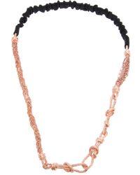 Maison Michel | Pink Necklace | Lyst
