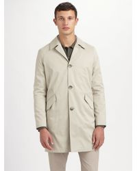 Theory | Natural Decker Sturdy Car Coat for Men | Lyst