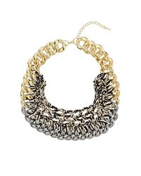 TOPSHOP | Metallic Chain and Thread Collar | Lyst