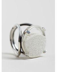 Ann Demeulemeester - Metallic Womens Medallion Silver Sand Ring - Lyst