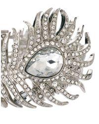 Kenneth Jay Lane - Metallic Statement Art Deco Cuff - Lyst