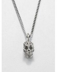King Baby Studio - Metallic Dead Skull Pendant Necklace for Men - Lyst