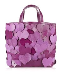 Marc Jacobs | Purple Big Heart Leather Tote | Lyst
