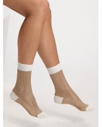 Maria La Rosa - Brown Short Silk Socks - Lyst