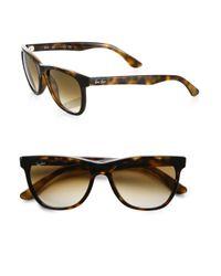 Ray-Ban Brown Oversized Flat-Top Wayfarer Sunglasses