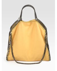 Stella McCartney - Black Shaggy Deer Falabella Fold-over Small Tote - Lyst