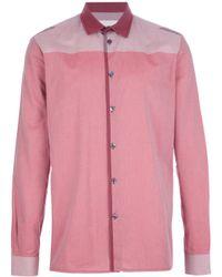 Stephan Schneider - Pink Paneled Fine Check Shirt for Men - Lyst
