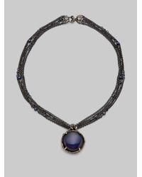 Stephen Dweck - Blue Midnight Quartz Pendant Multichain Necklace - Lyst