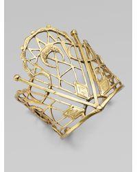 Bing Bang | Metallic Sacred Geometry Cuff Bracelet | Lyst
