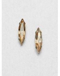 Bing Bang | Orange Swarovski Crystal Stud Earrings | Lyst