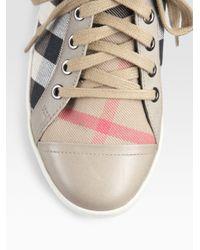 Burberry | Brown Vintage Sneakers | Lyst