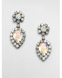 DANNIJO | Metallic Swarovski Crystal Drop Earrings | Lyst