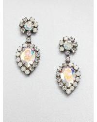 DANNIJO - Metallic Swarovski Crystal Drop Earrings - Lyst