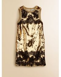 f3f09efae0 Dolce   Gabbana Girls Sequin Dress in Metallic - Lyst