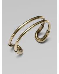 Giles & Brother | Metallic Skinny Cortina Cuff Bracelet | Lyst