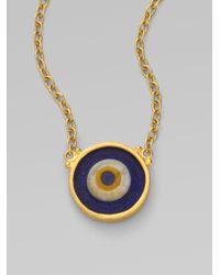 Gurhan | Blue 24k Gold Evil Eye Pendant Necklace | Lyst