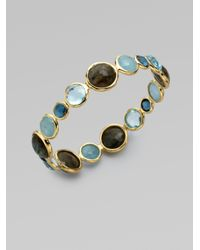 Ippolita | 18k Gold Semiprecious Multistone Bangle Bracelet | Lyst