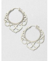 John Hardy | Metallic Naga Sterling Silver Medium Lace Hoop Earrings/1.6 | Lyst