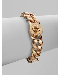 Marc By Marc Jacobs | Metallic Katie Small Turnlock Bracelet/rose Goldtone | Lyst