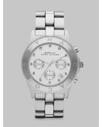 Marc By Marc Jacobs | Metallic Blade Glitz Stainless Steel Chronograph Bracelet Watch | Lyst
