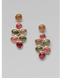 Marco Bicego - Metallic Siviglia Multicolor Sapphire & 18k Yellow Gold Chandelier Drop Earrings - Lyst