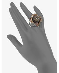 M.c.l  Matthew Campbell Laurenza | Flower Multicolored Sapphire Pave Ring | Lyst