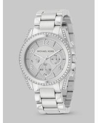 0088dfc0c Michael Kors - Metallic Blair Stainless Steel Chronograph Bracelet Watch -  Lyst