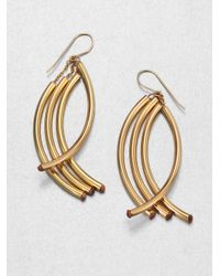 Nest | Metallic Twisted Arc Earrings | Lyst