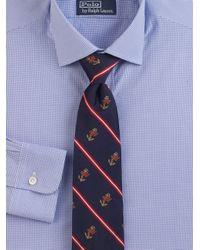 Polo Ralph Lauren - Blue Printed Silk Tie for Men - Lyst
