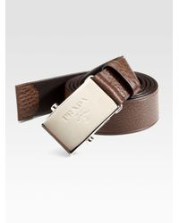 Prada | Brown Leather Cinture Belt for Men | Lyst