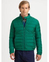 Vince - Green Nylon Puffer Jacket for Men - Lyst