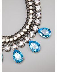 Silvia Gnecchi | Metallic Crystal Pendant Necklace | Lyst