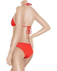 Paul & Joe - Red Bath Star-Print Triangle Bikini - Lyst