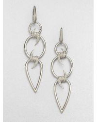 Stephen Webster | Metallic Diamond Sterling Silver Barb Triple Drop Earrings | Lyst