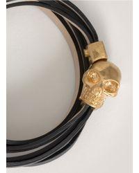Alexander McQueen | Black Skull Magnet Wrap Bracelet | Lyst