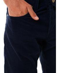 Alexander McQueen   Blue Slimleg Corduroy Trousers   Lyst