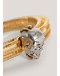 Alexander McQueen - Metallic Art-deco Skull Bangle - Lyst
